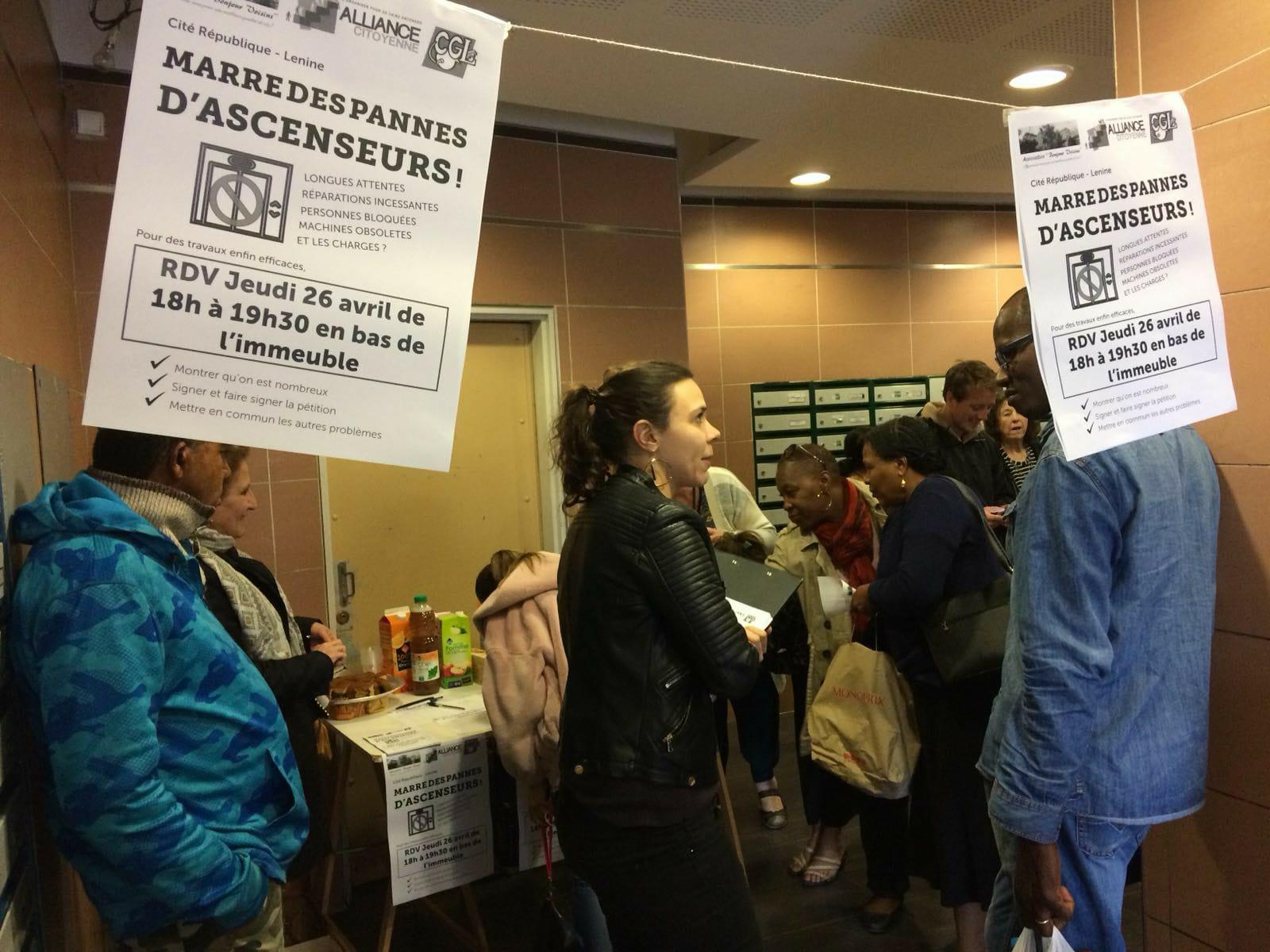A Aubervilliers, colère des locataires : réparez l'ascenseur social !